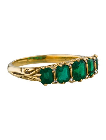 1.50ctw In-Line Emerald Ring