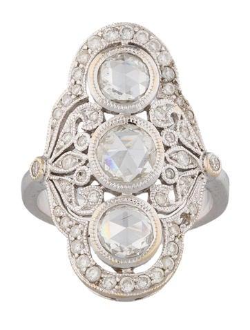 1.36ctw Diamond Shield Ring