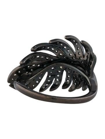 Diamond Feather Pinky Ring
