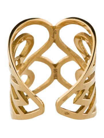 Poiray Heart Pattern Ring w/Tags