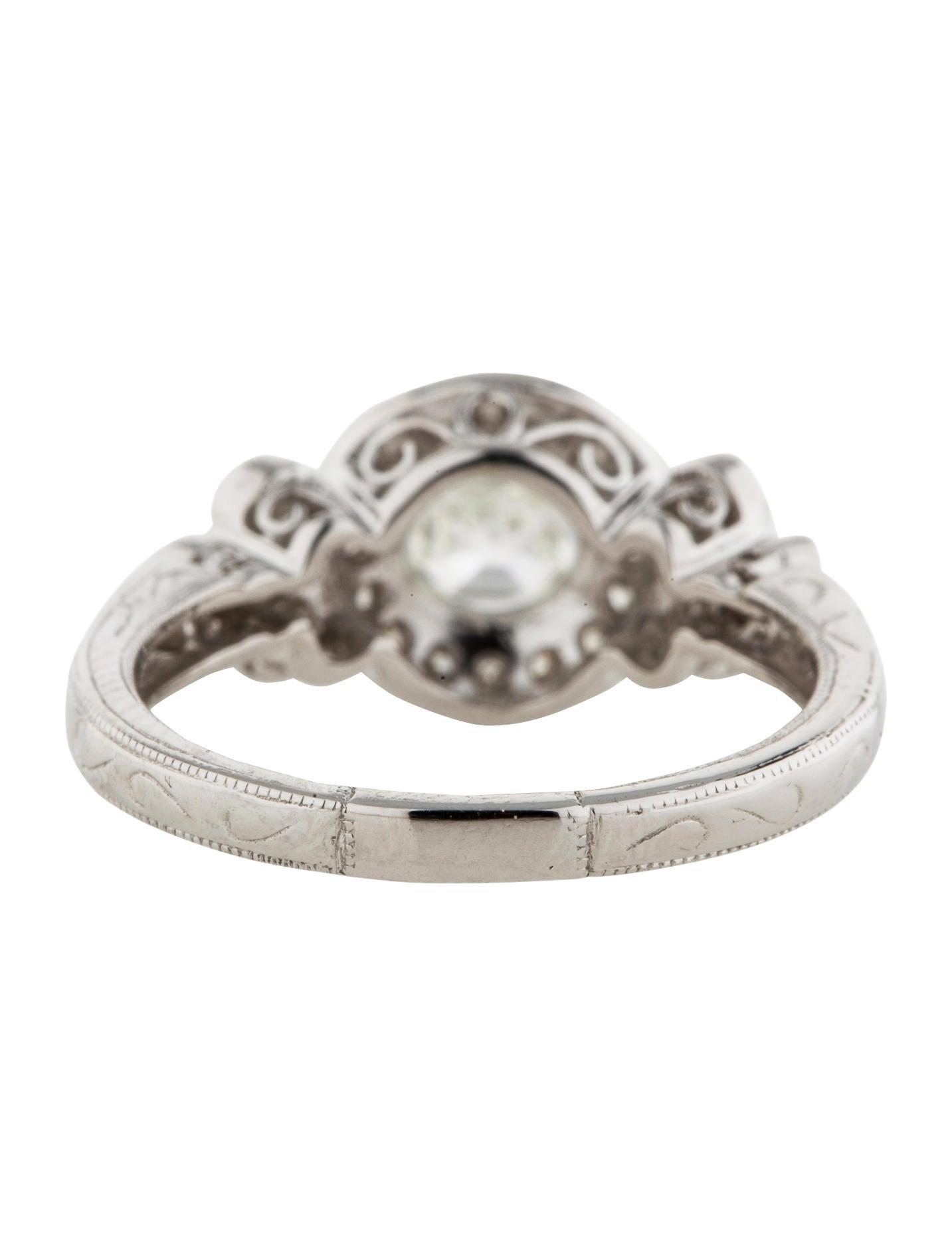 1.35ctw Asscher Cut Diamond Ring - Rings - FJR23175   The ...