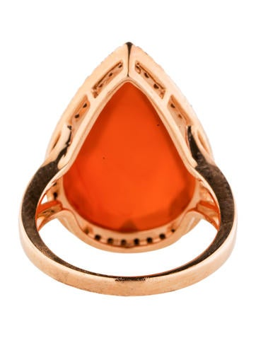 Quartz and Black Diamond Ring