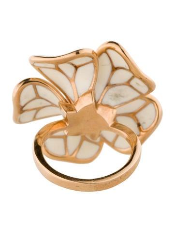 Diamond Enamel Cocktail Ring