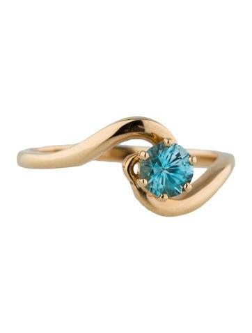 14K Zircon Promise Ring