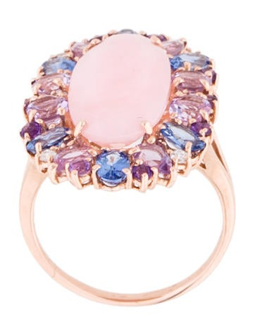 Pink Opal and Colored Stone Ring