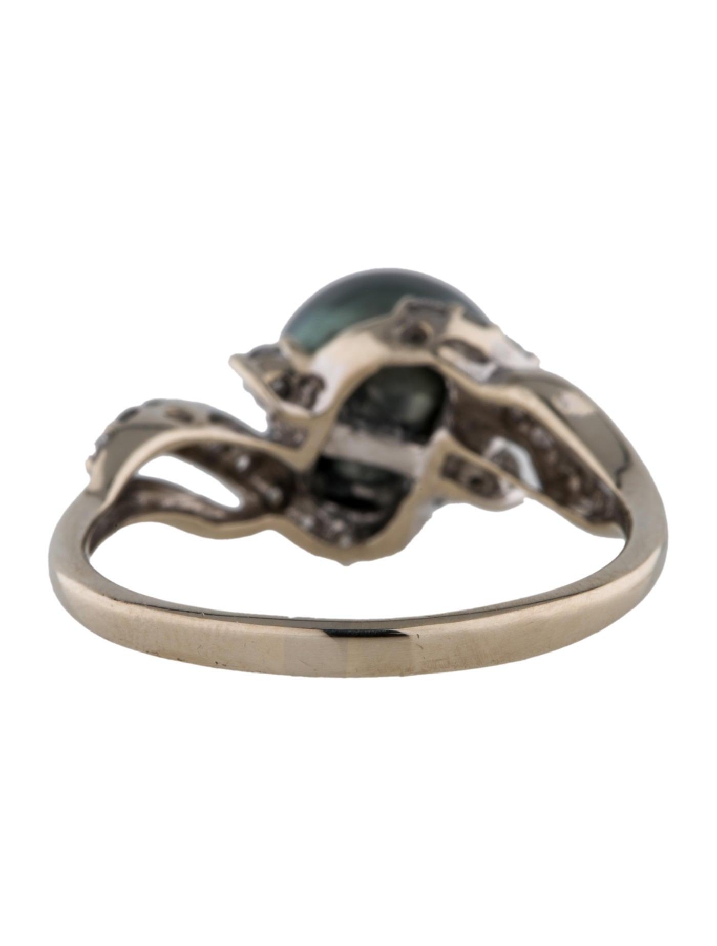 14k tahitian pearl and ring rings fjr24841