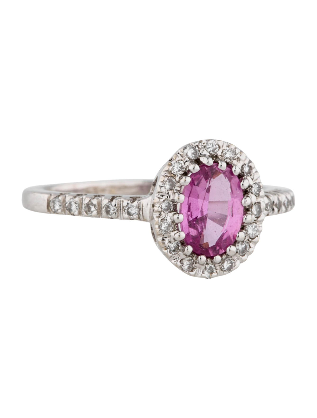 Pink Sapphire Ring With Diamond Accents