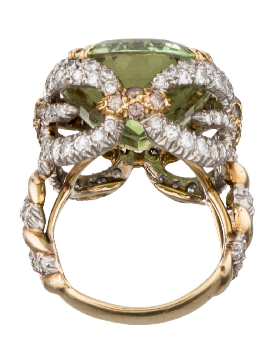 Peridot Amp Diamond Dragonfly Ring Rings Fjr26753 The