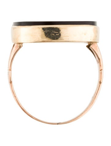 14K Carnelian Cameo Ring