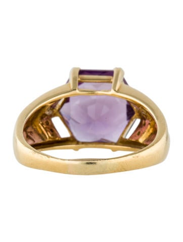 Hexagonal Amethyst Cocktail Ring