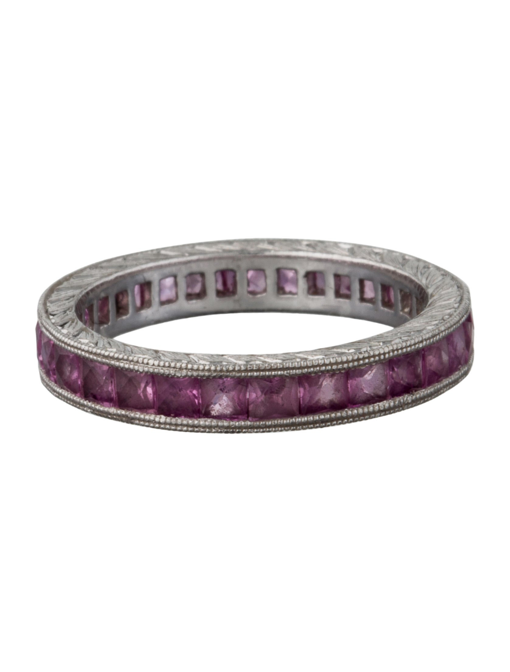 Pink Sapphire Eternity Band - Rings - FJR27518 | The RealReal