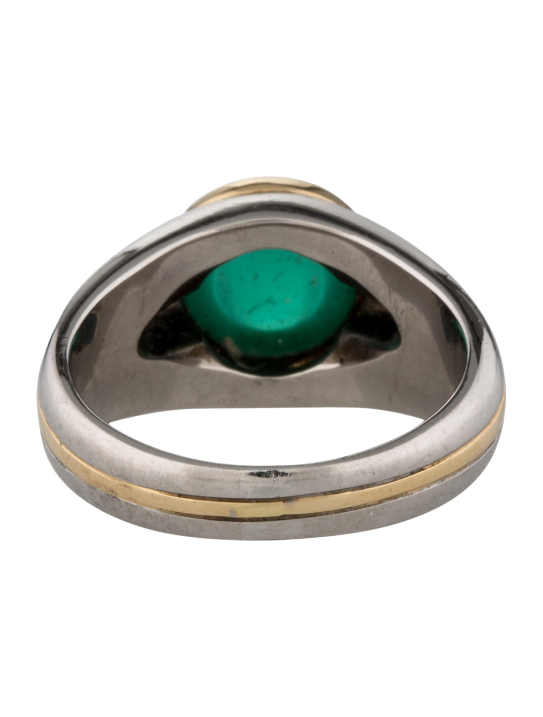 18k emerald ring rings fjr27905 the realreal