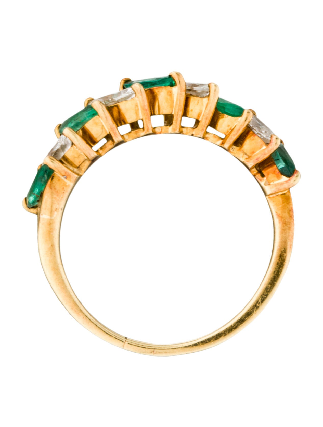 emerald band rings fjr28481 the realreal
