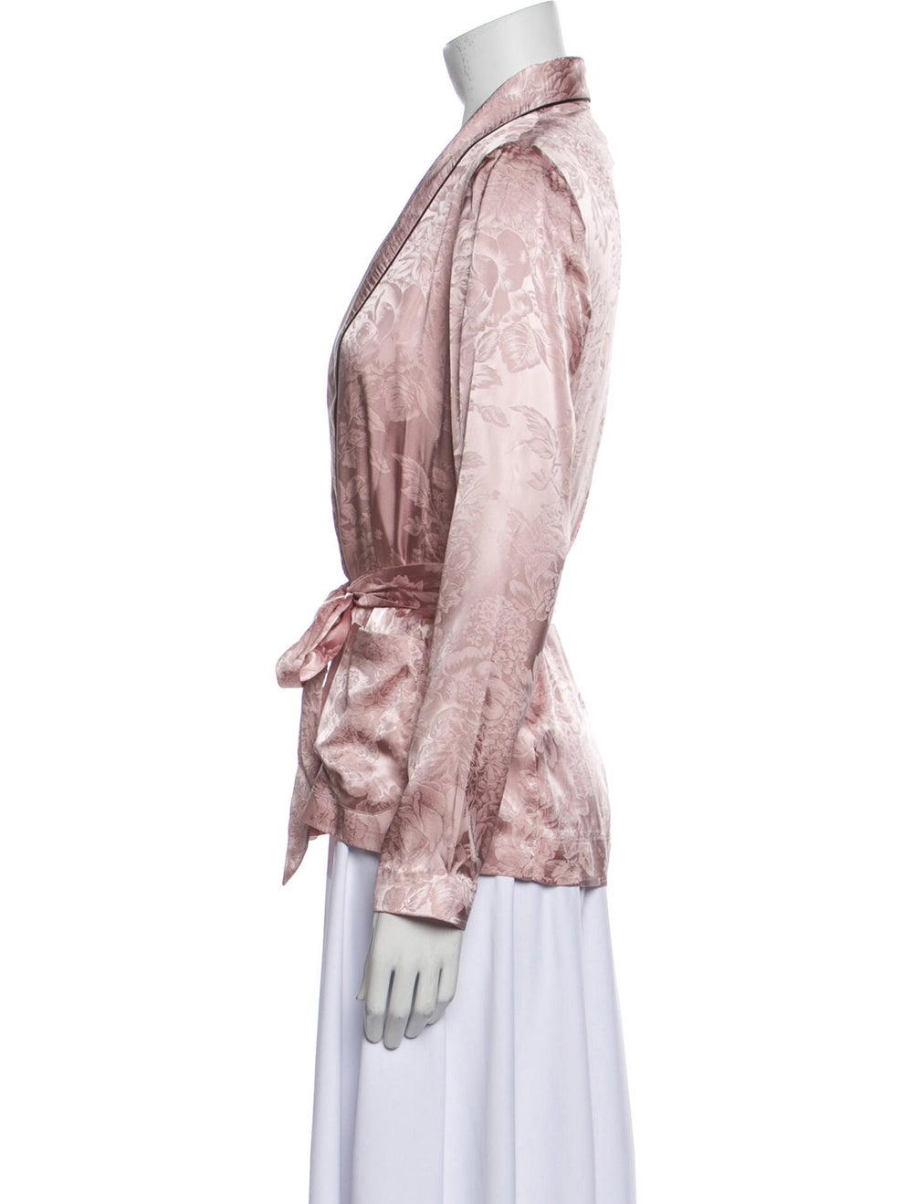 Fleur Du Mal Silk Robe w/ Tags Pink - image 2