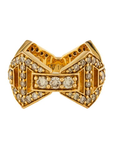 18K Diamond Signature Hexagon Ring