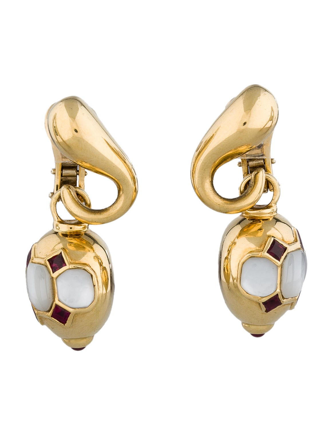 faraone mennella of pearl ruby earrings
