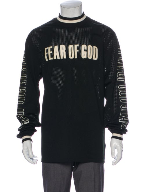 Fear Of God 2017 Fifth Collection Mesh T-Shirt Bla