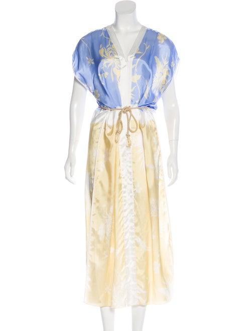 forte_forte Printed Maxi Dress blue