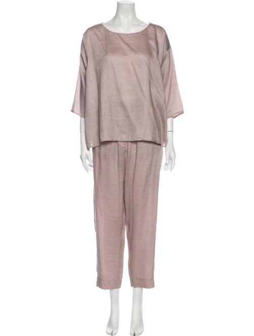 forte_forte Linen Pant Set Pink