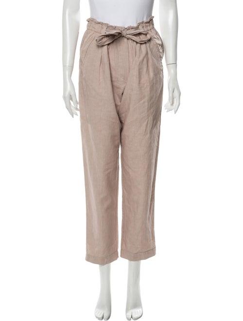 forte_forte Linen Straight Leg Pants Pink