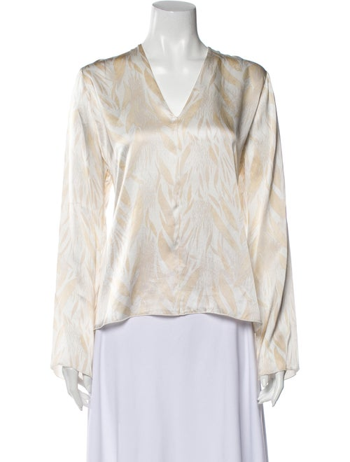 forte_forte Silk Printed Blouse White