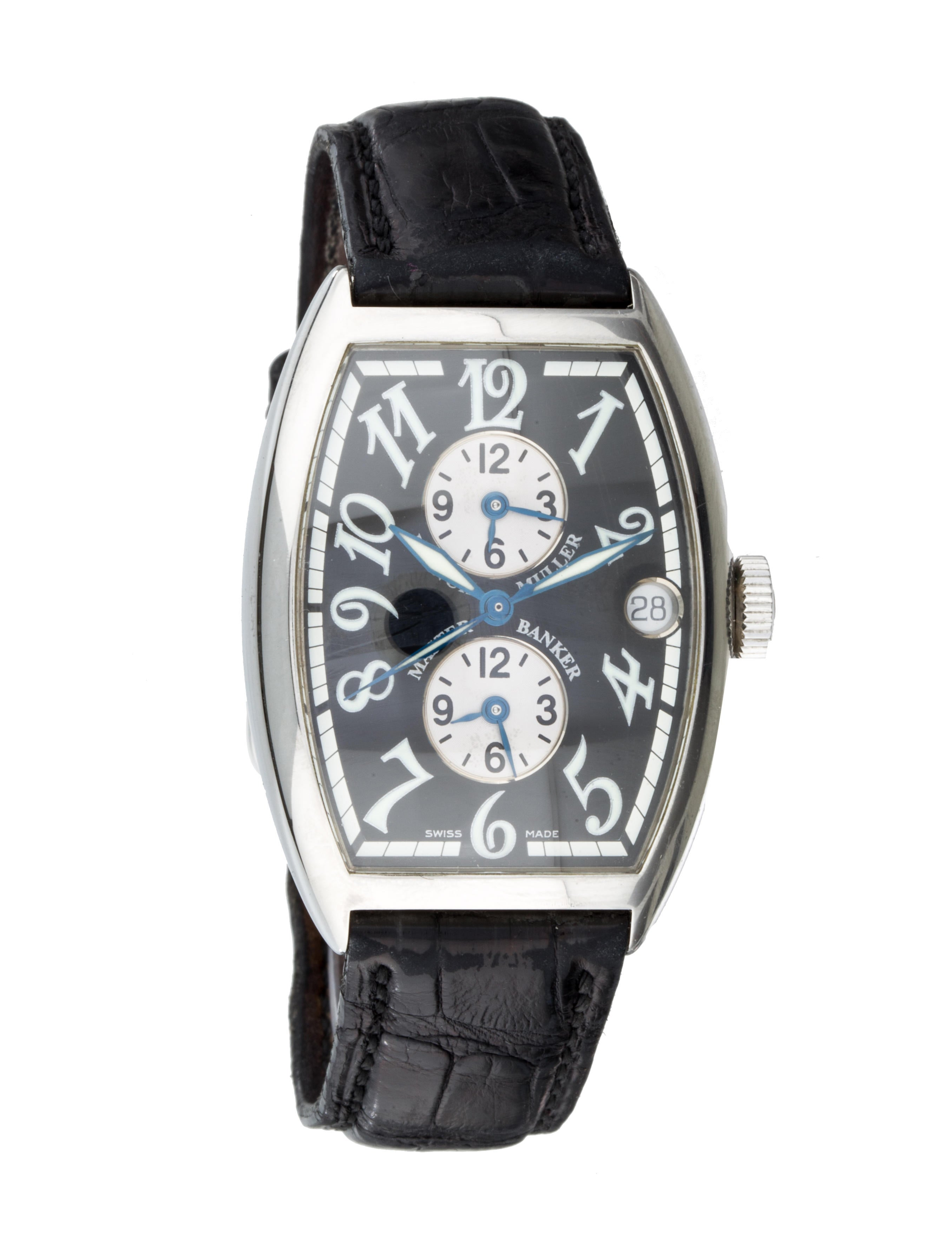 Franck muller master banker watch strap frm20083 the realreal for Franck muller watches