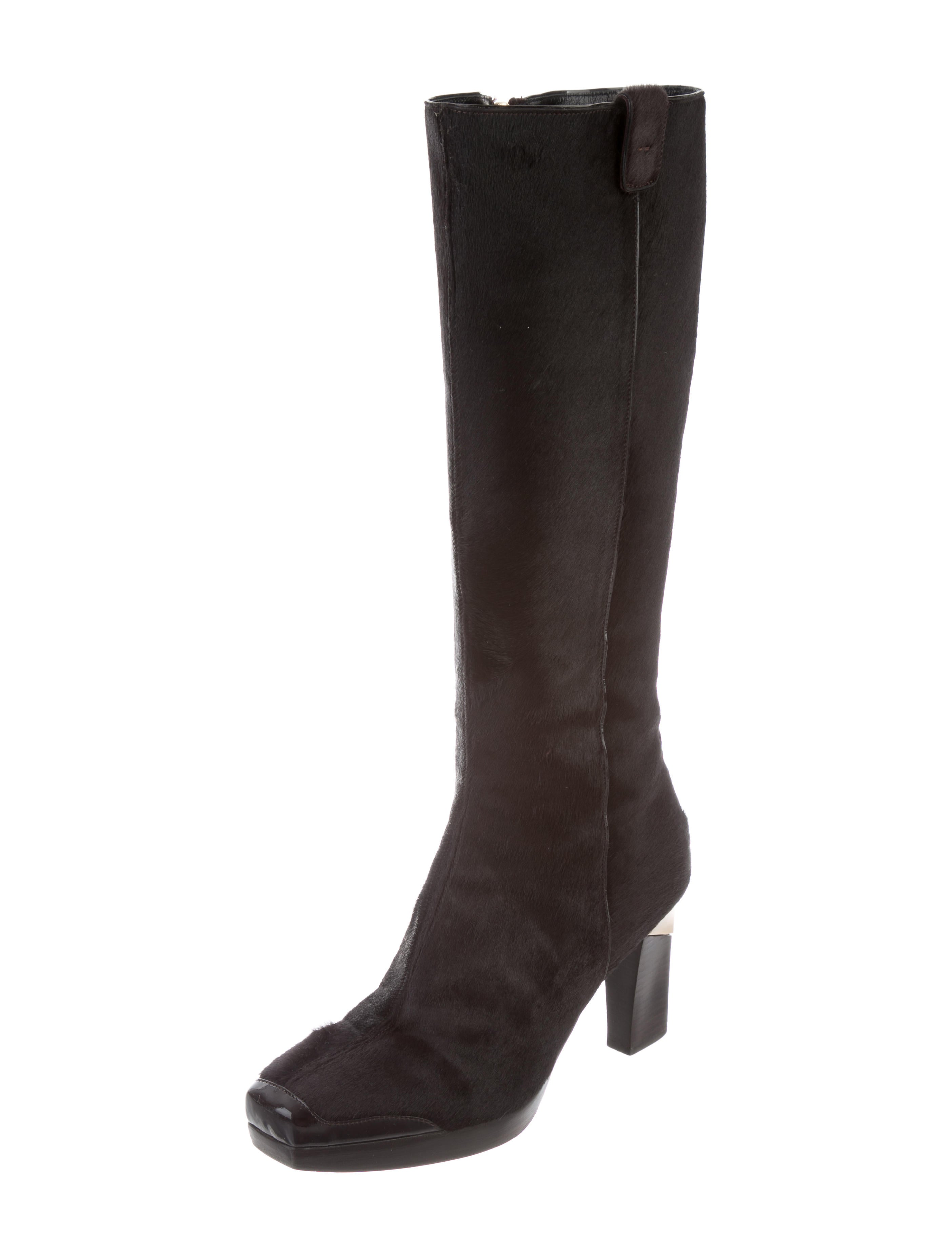 clearance get to buy outlet locations Fratelli Rossetti Ponyhair Knee-High Boots buy cheap discount discount footaction FRe0BNKCkb