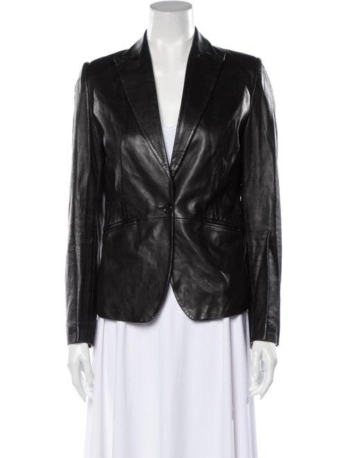 Fratelli Rossetti Leather Blazer Black
