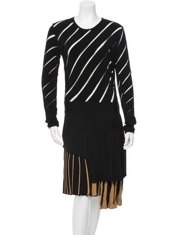 Fausto Puglisi Perforated Long-Sleeve Dress w/ Tags None