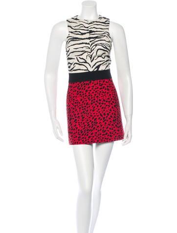 Fausto Puglisi Animal Printed Halter Mini Dress w/ Tags None