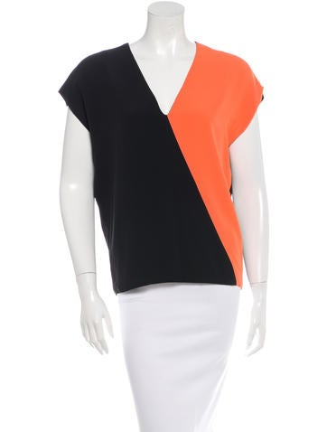 Fausto Puglisi Spring 2015 Colorblock Blouse w/ Tags None