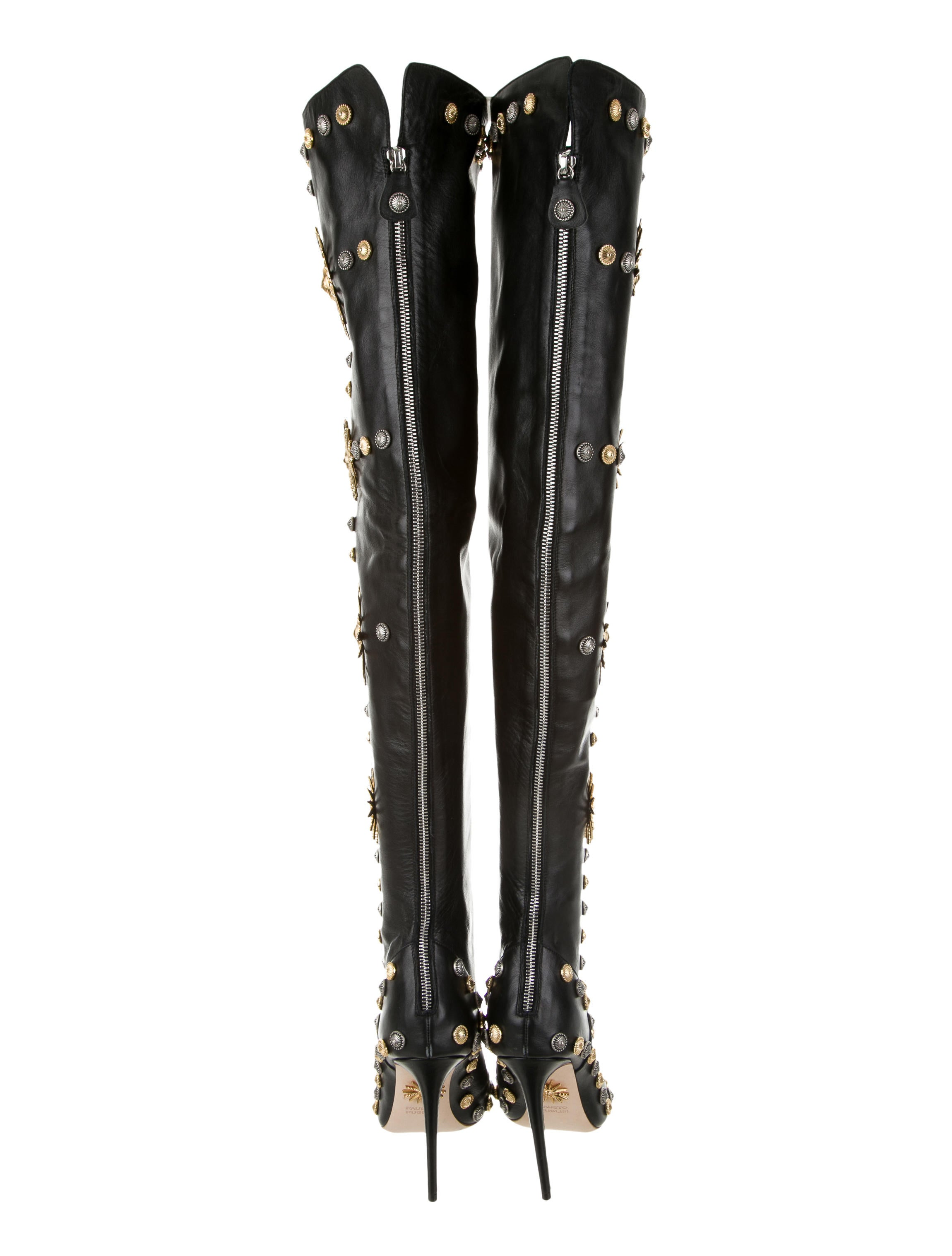 Fausto Puglisi Studded Thigh-High Boots - Shoes - FUG20108 | The