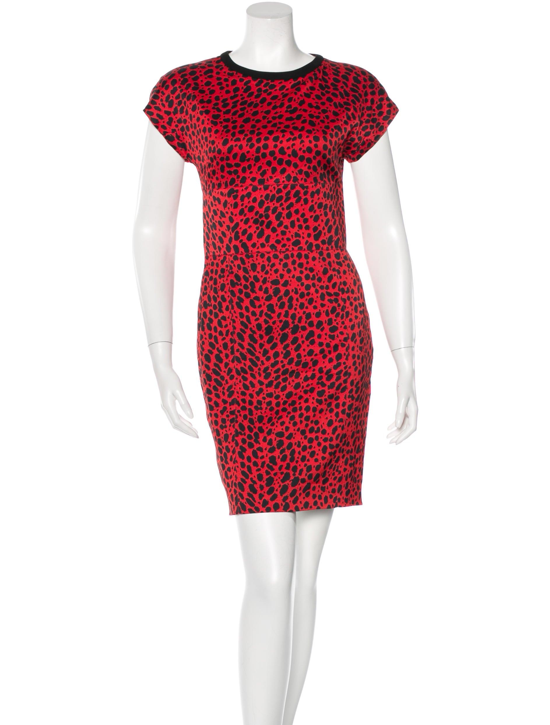 fausto puglisi cheetah print mini dress clothing