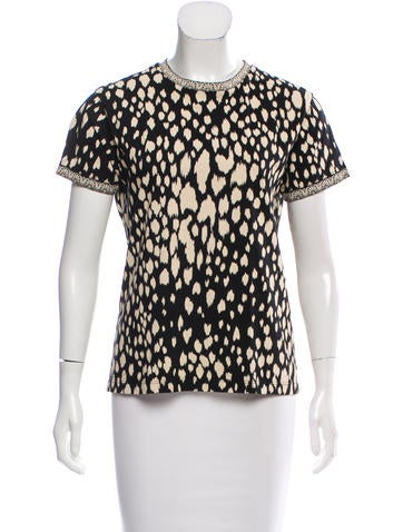 Fausto Puglisi Printed Short Sleeve Top None