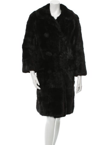 Mink Double-Breasted Coat None