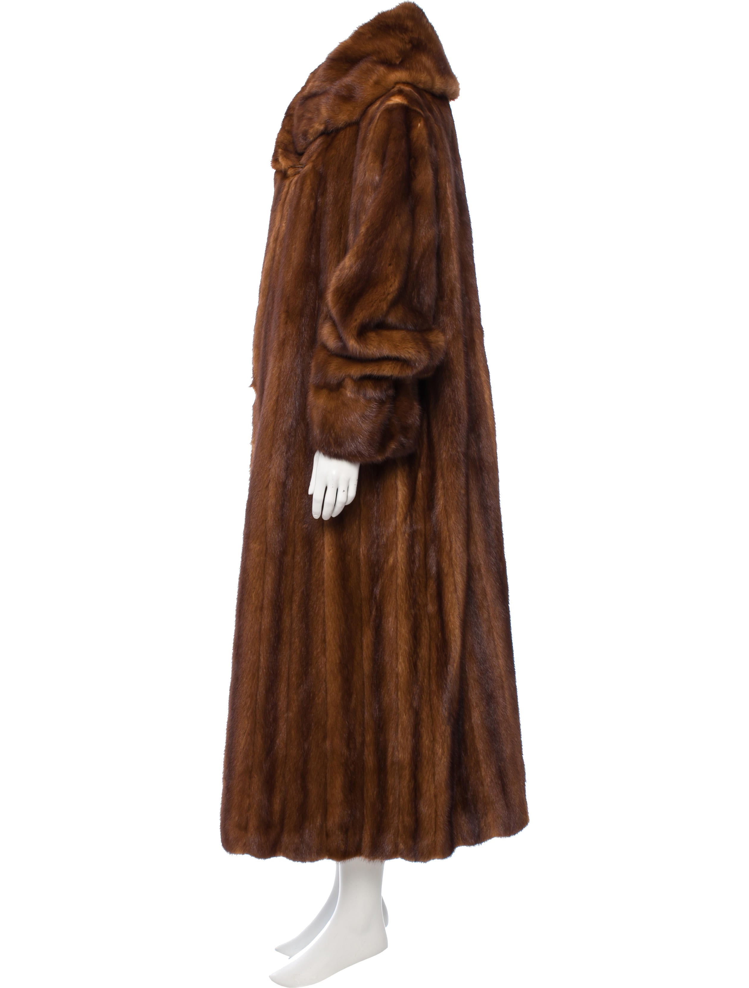 Contemporary Flatware Long Mink Coat Clothing Fur21600 The Realreal
