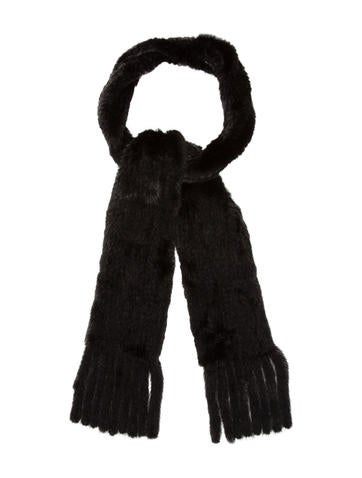 Knitted Mink Scarf None