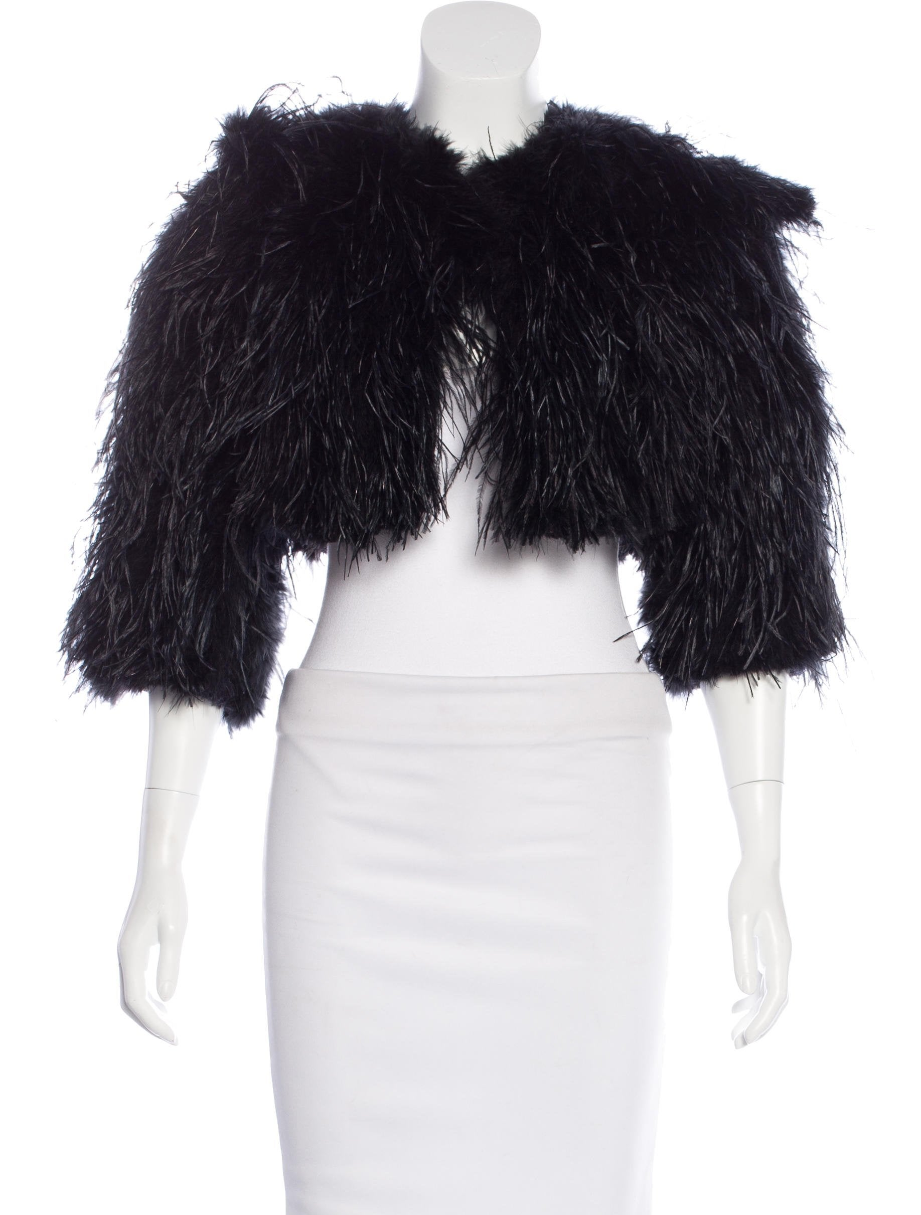 Fur Ostrich Feather Bolero Clothing Fur21952 The Realreal