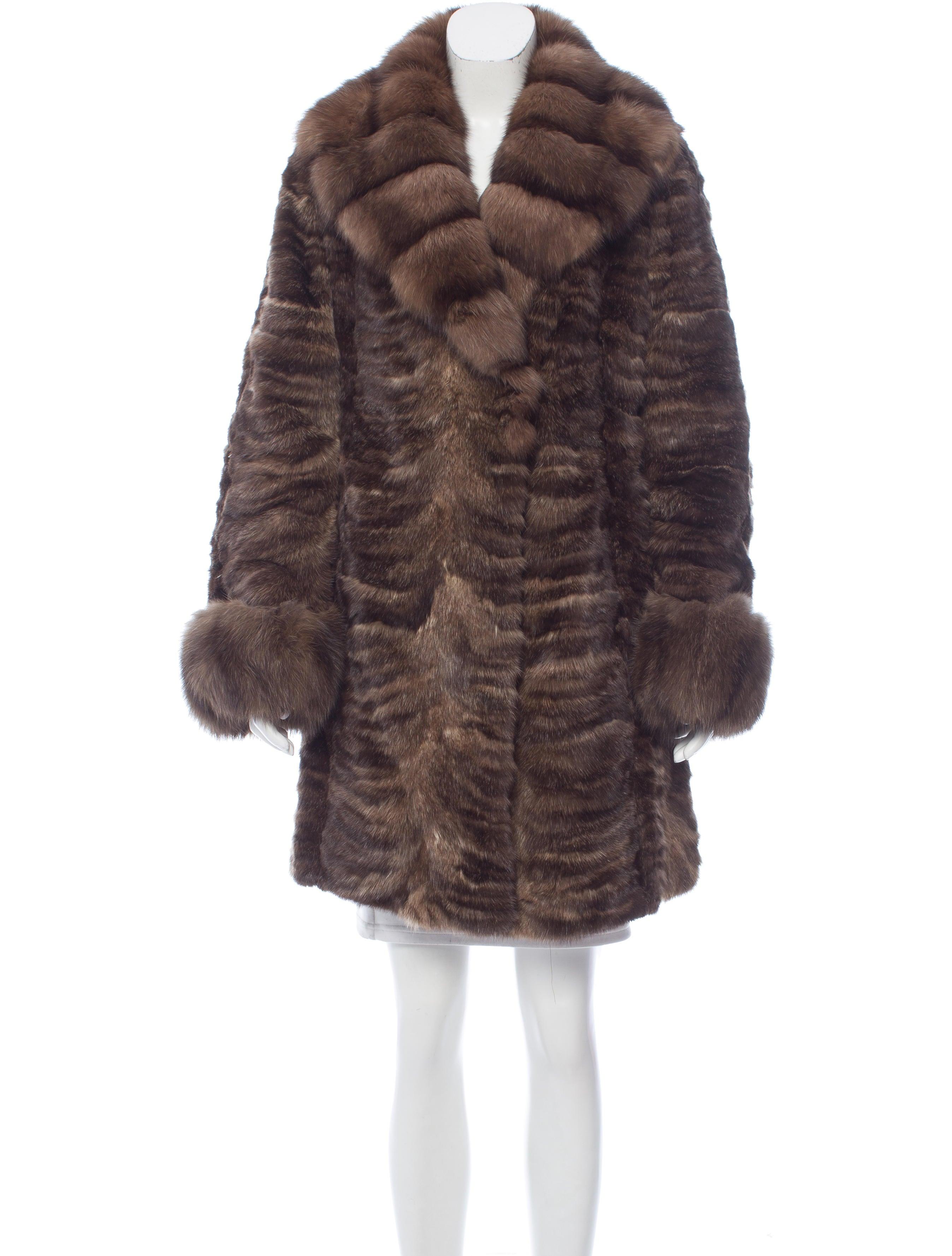 Fur Sheared Sable Fur Coat Clothing Fur22196 The