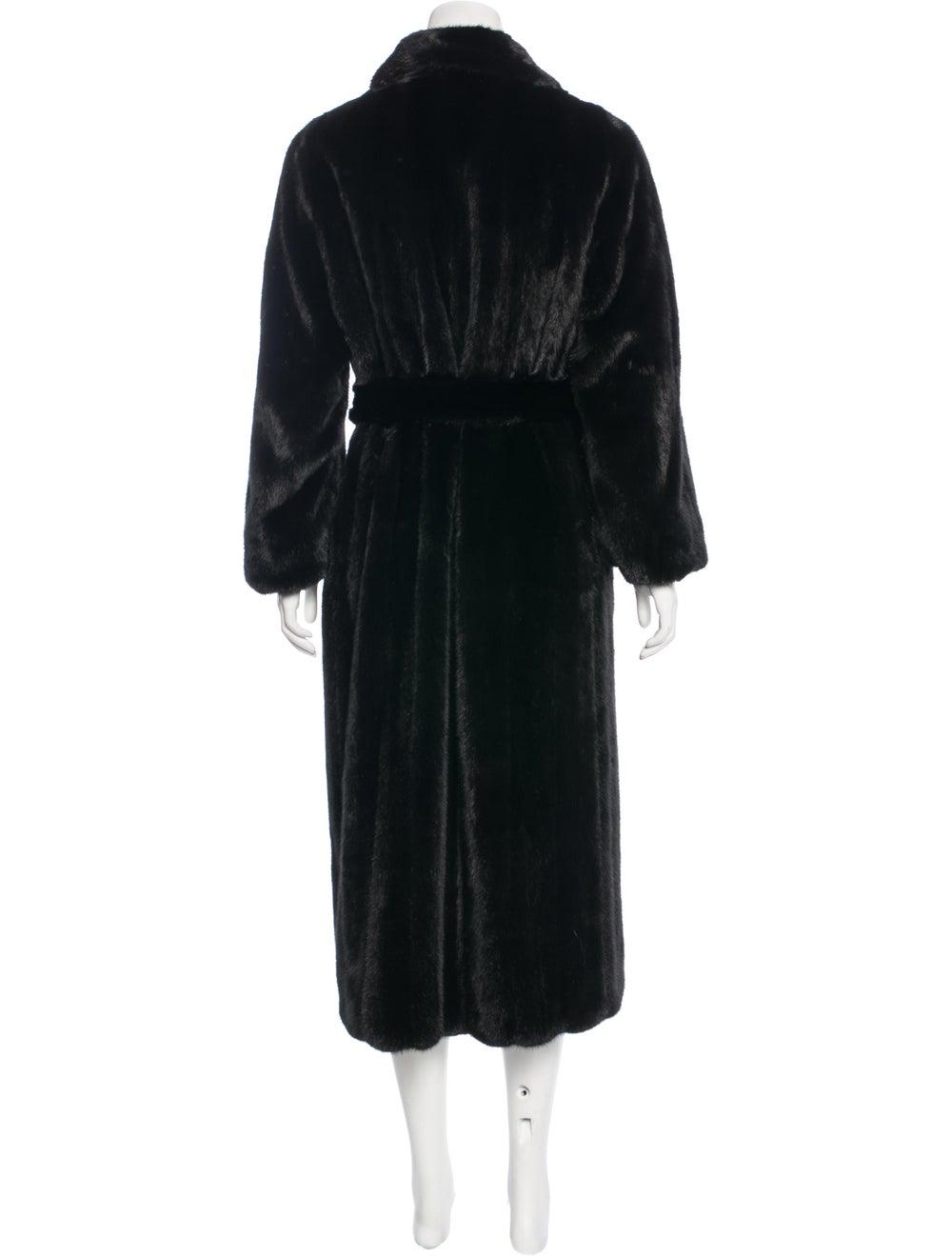 Fur Mink Belted Coat Brown - image 3
