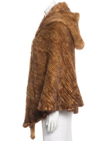 Hooded Mink Cape