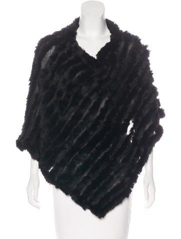 Fur Knit Poncho None
