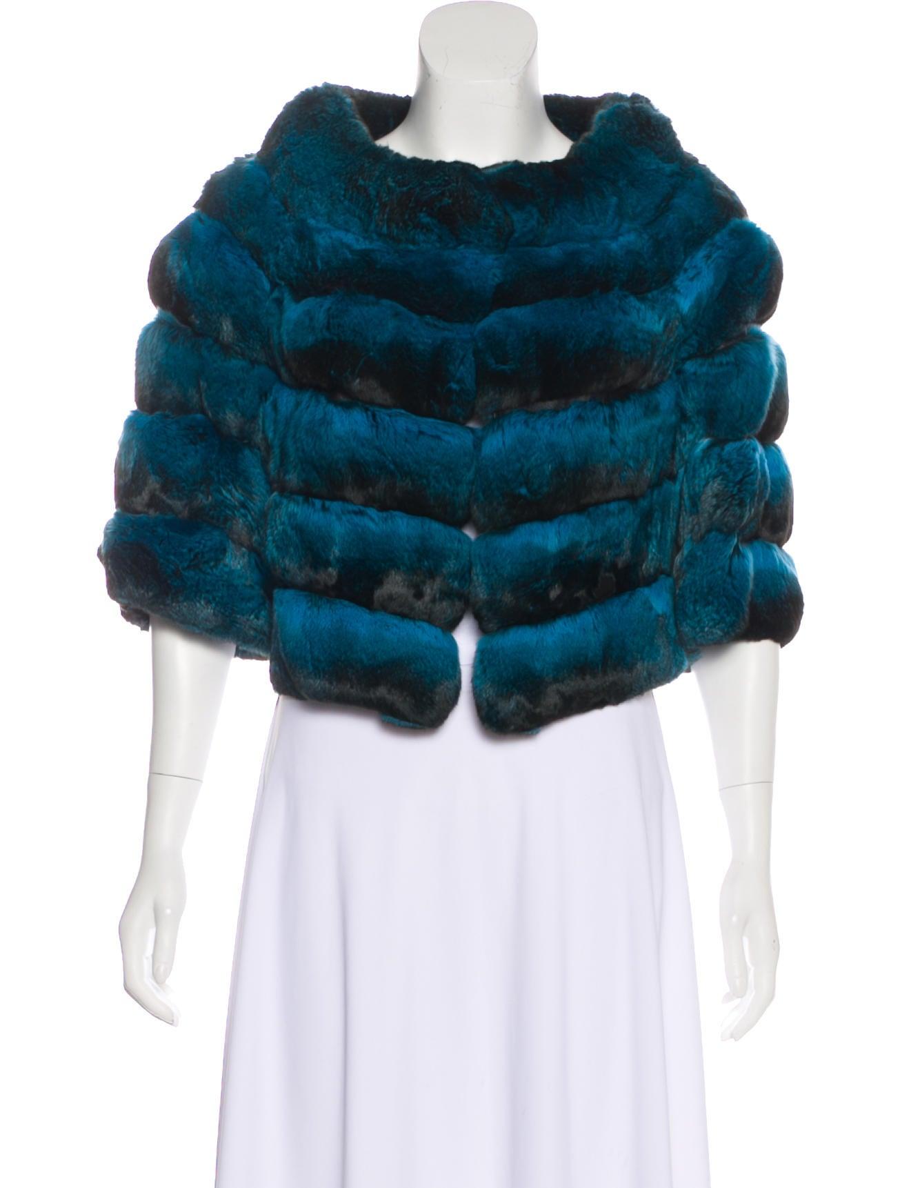 Fur Chinchilla Amp Lambskin Bolero W Tags Clothing