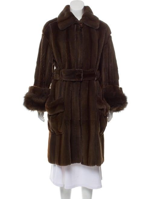 Belted Chinchilla Fur Coat