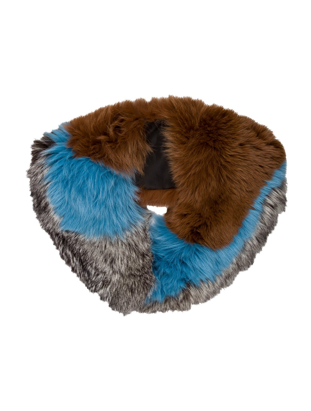 Fur Fox Fur Stole Blue - image 1