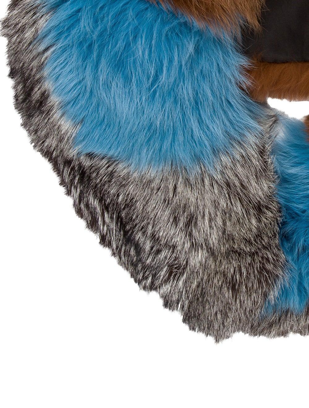 Fur Fox Fur Stole Blue - image 2