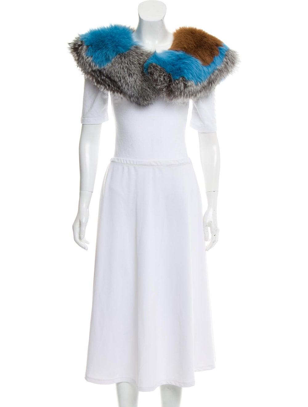 Fur Fox Fur Stole Blue - image 3