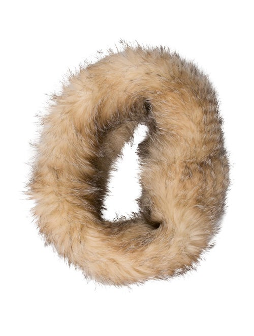 Knit Fox Snood Brown