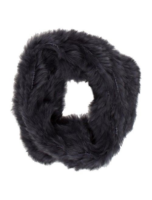 Rabbit Fur Snood Grey