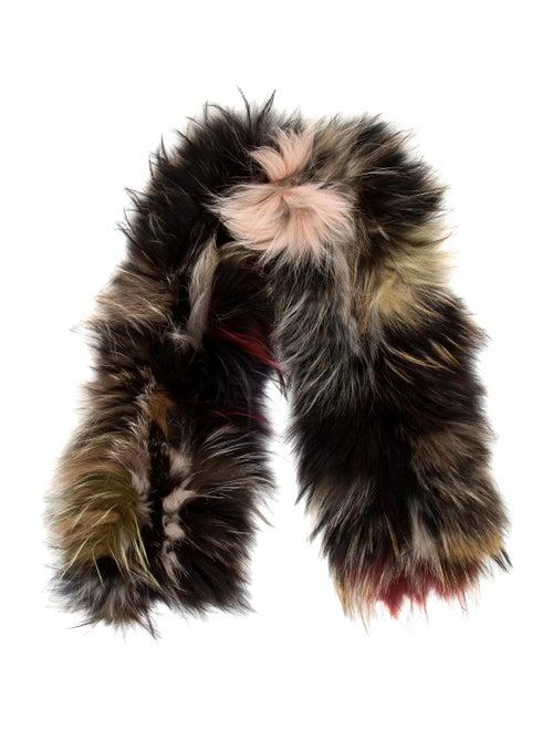 Fur Fur Stole Black
